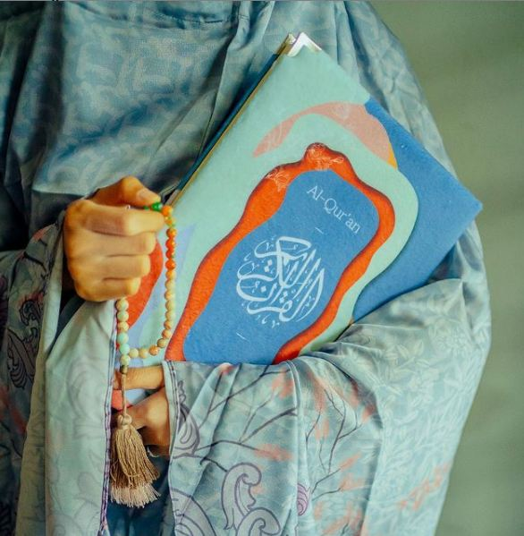 The Al-Qur'an with our signature custom print on Velboa fabric for the cover